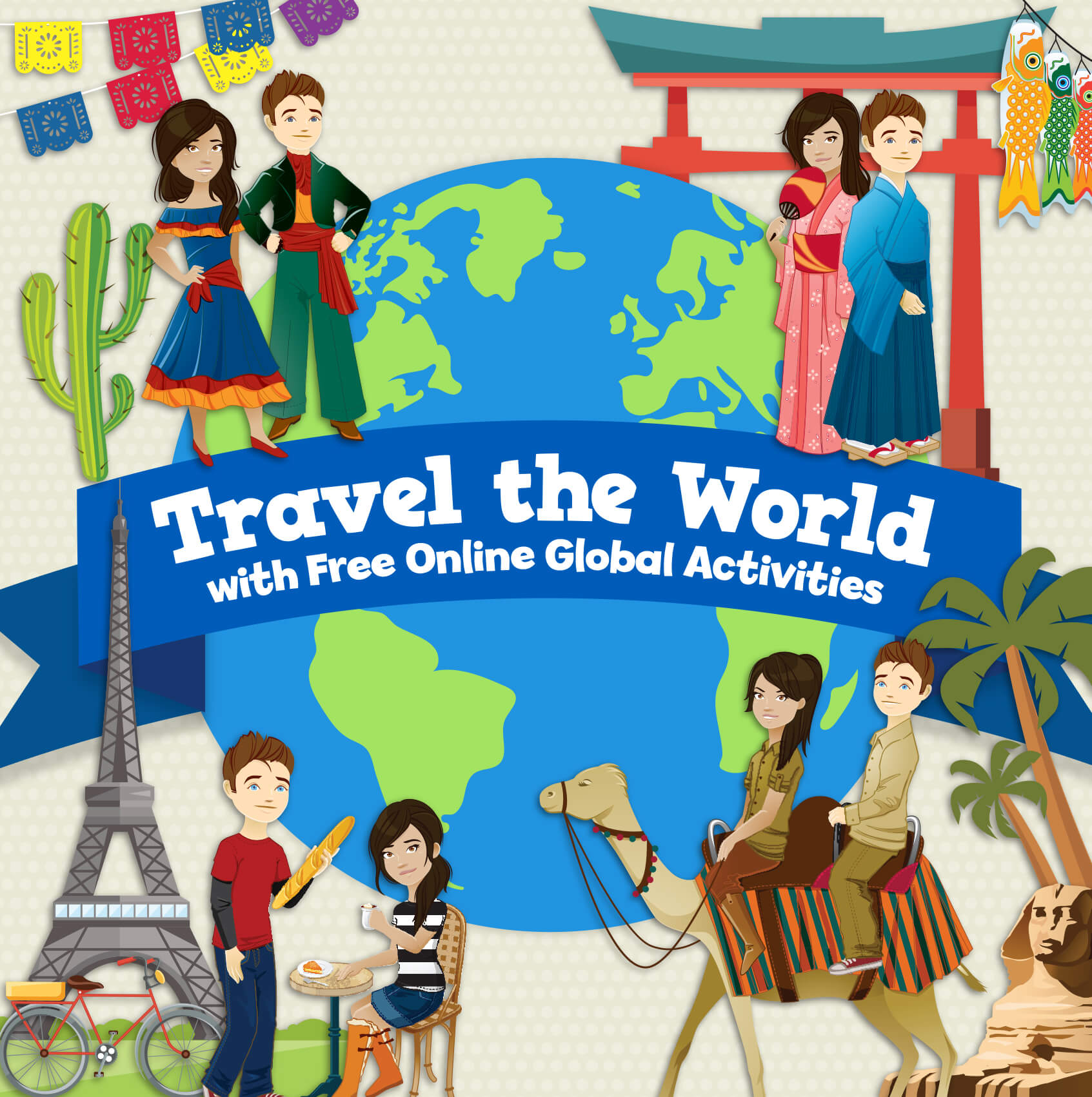 Travel the World with FREE online global activities